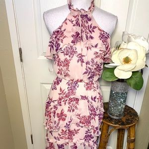 Express  Halter Floral Maxi Dress